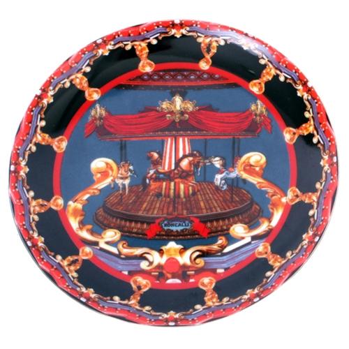 Prato de Parede Carrossel em Cerâmica - 20x20 cm