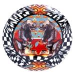 Prato de Parede Elefante em Cerâmica - 20x20 cm