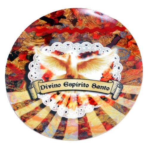 Prato de Parede Espírito Santo em Cerâmica - 20x20 cm