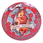 Prato de Parede Santo Antônio em Cerâmica
