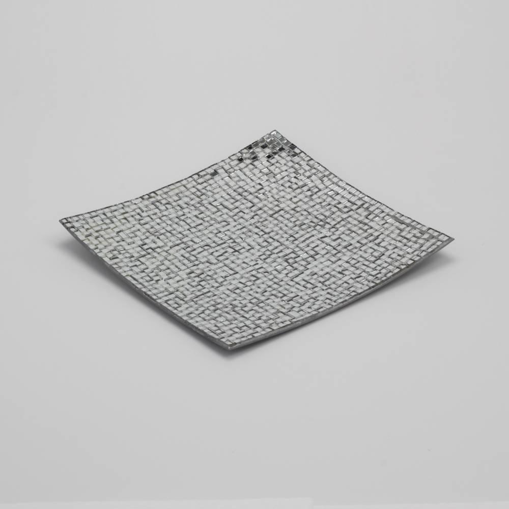 Prato Mosaic Quadrado em Metal - Prestige - 20x20 cm