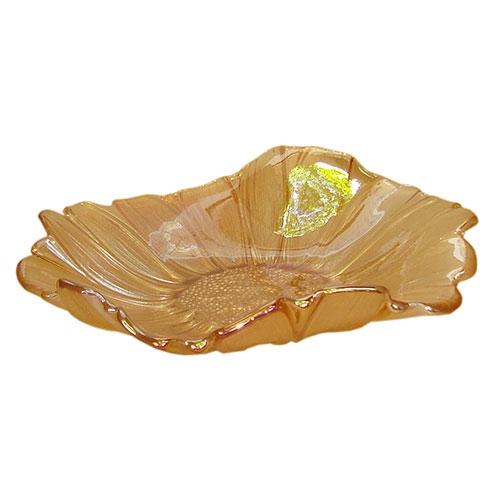 Prato Raso Magna em Vidro Âmbar - 30x7,5 cm
