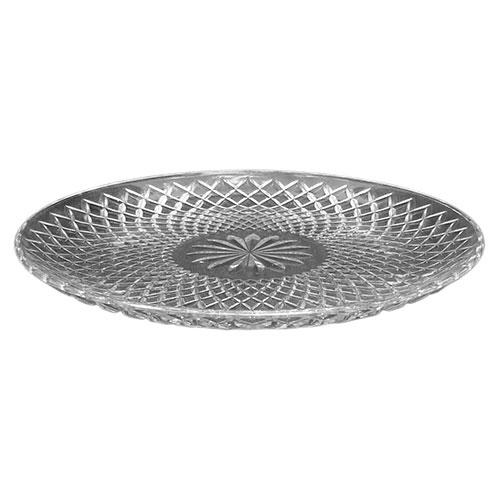 Prato Rosette Raso Transparente em Vidro - 33x3 cm