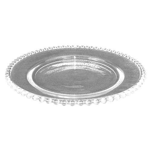 Prato Transparente Adele Pequeno de Vidro - 27x3 cm