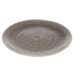 Prato Waffle Cinza em Cerâmica - 34x4 cm