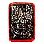 Placa Bandeja Friends Become Our Chosen Family