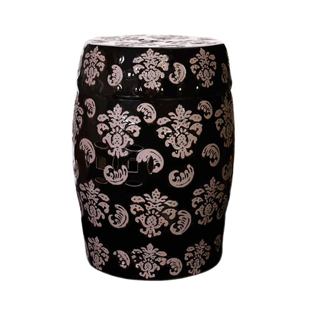 Banco Decorativo Garden Estamp em Cerâmica - 46x33 cm