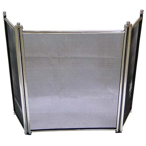 Proteção de Lareira Lisa Alta em INOX Fullway - 88x62cm