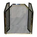 Protetor para Lareira Prata Tela Trapézio Fullway em Inox - 100x60 cm