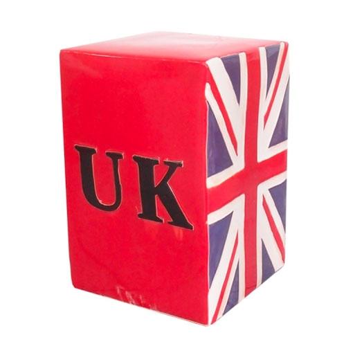Puff Bandeira da Inglaterra em Cerâmica - 40x27 cm