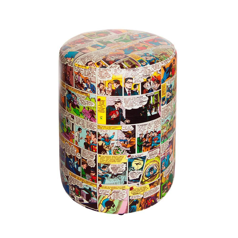 Puff DC Comics Quadrinhos Colorido em Tecido Sintético - Urban - 45x35 cm