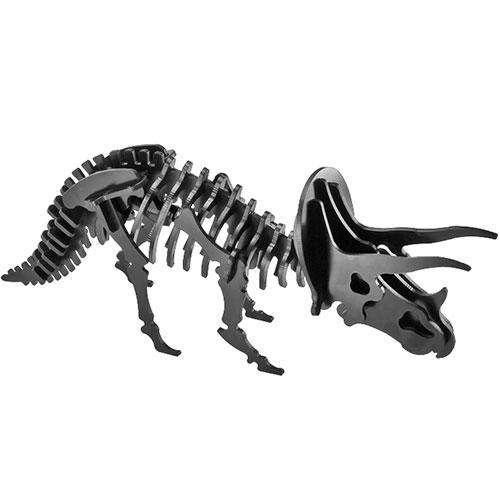 Puzzle / Peças para Montagem - Brontossauro Médio - Feito de Psai / 30x10 cm