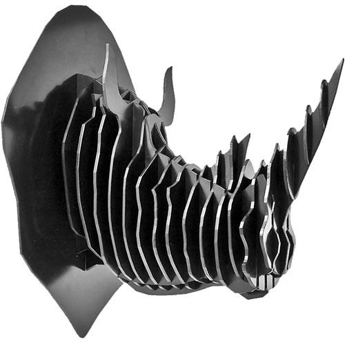 Puzzle / Peças para Montagem - Cabeça de Rinoceronte Grande - Feito de Psai / 22x30 cm