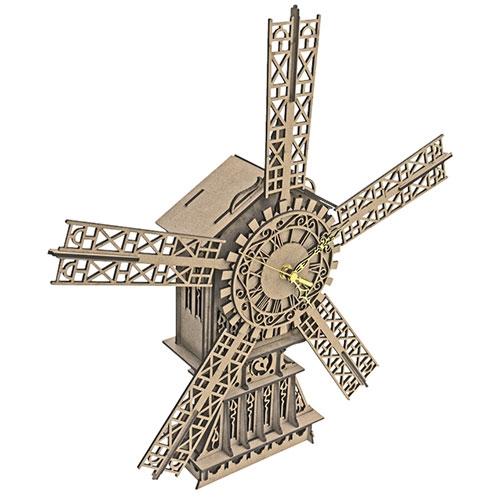 Puzzle / Peças para Montagem - Relógio Moinho Grande - Feito de MDF / 47x43 cm