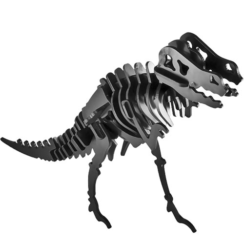 Puzzle / Peças para Montagem - Tiranossauro Rex Médio - Feito de Psai / 23x18 cm
