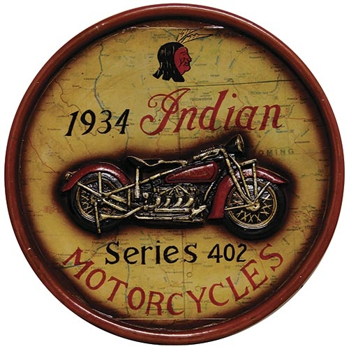 Quadro 1934 Indian Motorcycles Oldway - 40 cm