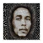 Quadro 3D Bob Marley em Alumínio