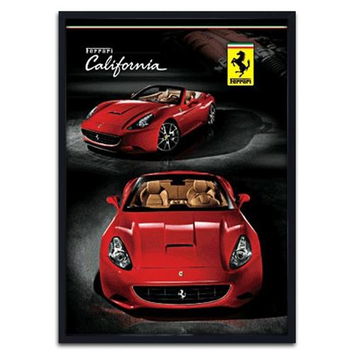 Quadro 3D Ferrari California Vermelha em Madeira - 70x50 cm