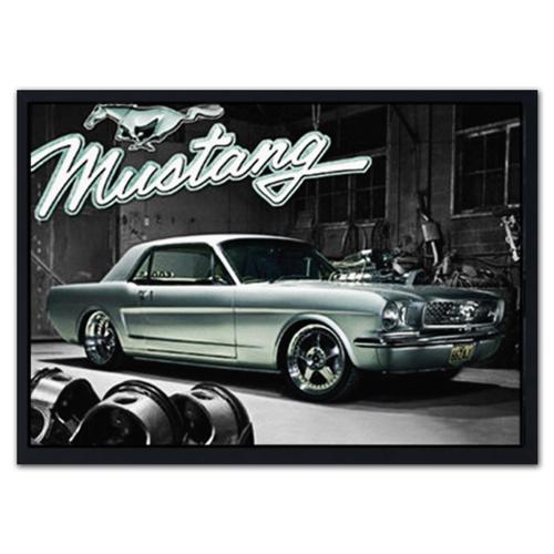Quadro 3D Ford Mustang em Madeira - 70x50 cm