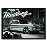 Quadro 3D Ford Mustang em Madeira