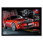 Quadro 3D Ford Shelby GT500 em Madeira
