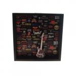 Quadro 3D guitarra P&B