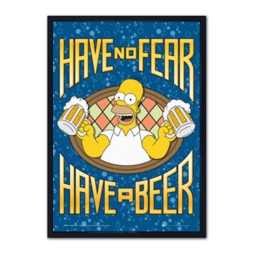 Quadro 3D Have No Fear - Have a Beer em Madeira - 70x50 cm