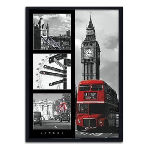 Quadro 3D London - England - em Madeira - 70x50 cm