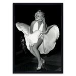 Quadro 3D Marilyn Dress Flying em Madeira
