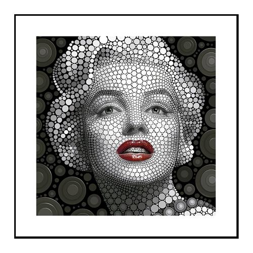Quadro 3D Marilyn Monroe em Alumínio - 60x60 cm