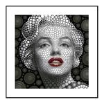 Quadro 3D Marilyn Monroe em Alumínio
