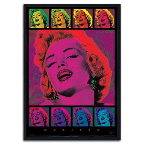 Quadro 3D Marilyn Pop Art em Madeira - 70x50 cm