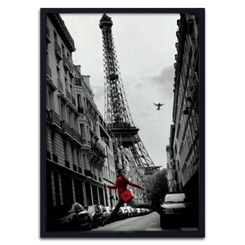 Quadro 3D Paris Je Taime em Madeira - 70x50 cm