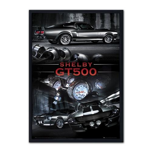 Quadro 3D Shelby GT500 em Madeira - 70x50 cm
