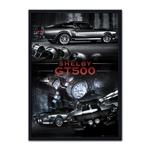Quadro 3D Shelby GT500 em Madeira