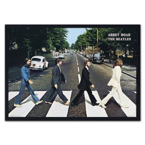 Quadro 3D The Beatles - Abbey Road - em Madeira - 70x50 cm