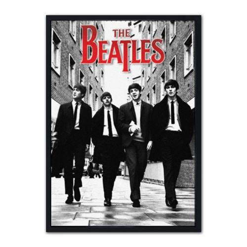 Quadro 3D The Beatles em Madeira - 70x50 cm