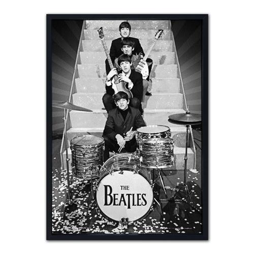 Quadro 3D Top The Beatles em Madeira - 70x50 cm