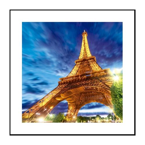 Quadro 3D Torre Eiffel em Alumínio - 60x60 cm