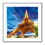 Quadro 3D Torre Eiffel em Alumínio