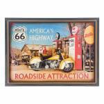 Quadro America Highway Oldway em Madeira - 39x54 cm