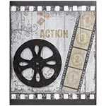 Quadro Antique Movies Rolo Oldway - Metal e MDF - 60x50 cm
