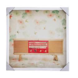 Quadro Antique Rádio Fundo Claro com Moldura - Urban - 50 cm R$ 119,80 R$ 85,80 1x de R$ 77,22 sem juros