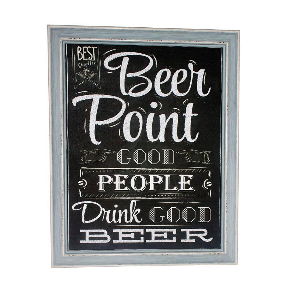 Quadro Beer Point Fullway em Madeira e Canvas - 50x40x3,5 cm