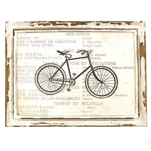 Quadro Bicicleta Preta (Toda Preta) - Madeira Estampada - 41x31 cm