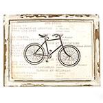Quadro Bicicleta  Madeira/Estampado