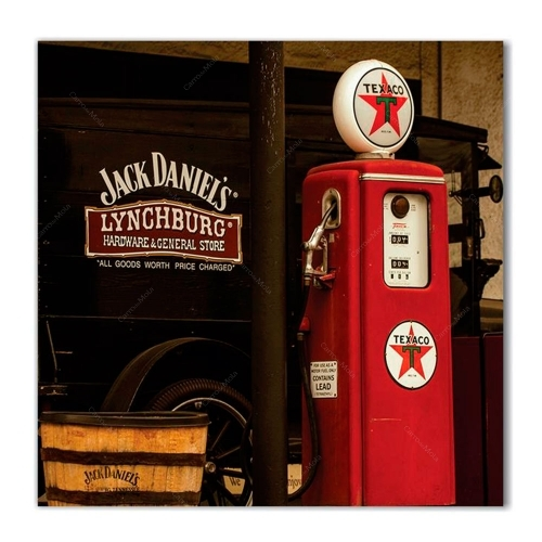 Quadro Bomba de Combustível Barril Jack Daniels Impresso em MDF - 50x50 cm