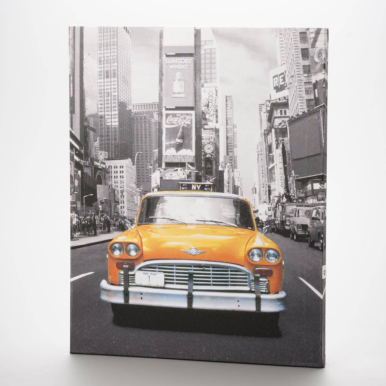 Tela Cadillac Laranja com Leds - Prestige - 40x50 cm