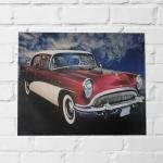Quadro Cadillac vermelho