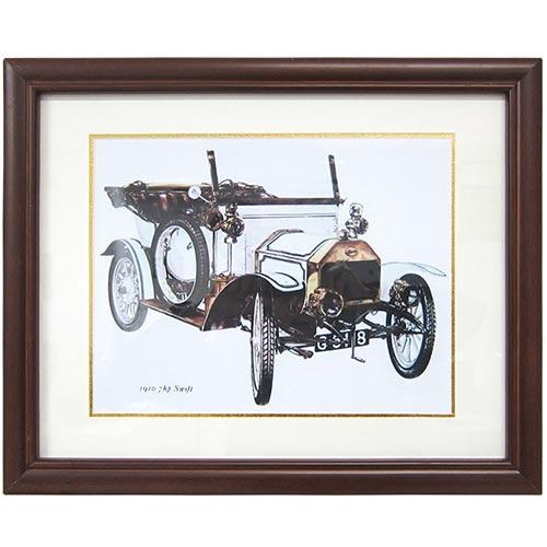 Quadro Calhambeque 1910 Austin 7 HP em Madeira - 47x40 cm